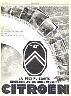 vieille affiche Citroen pub 1927