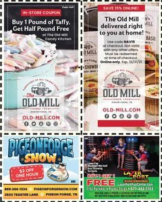 Smoky Mountains - Pigeon Forge Coupons - Gatlinburg Discount Coupons Gatlinburg Coupons, Gatlinburg Tn, Smoky Mountains Attractions, Tupperware Recipes, Mountain Vacations, Tennessee Vacation, Shopping Coupons, Pigeon Forge, Discount Coupons