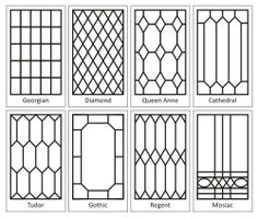 Leaded Glass Designs - Georgian: simple enough for all the kitchen windows and door