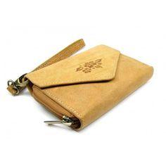 Hnědá dámská peněženka kožená - peněženky AHAL