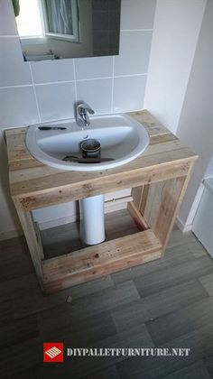 New Diy Bedroom Furniture Redo Ideas Diy Bathroom, Diy Bathroom Vanity, Diy Furniture, Bedroom Furniture Redo, Bath Furniture, Room Diy, Pallet Bathroom, Diy Furniture Bedroom, Diy Bath Products
