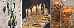 matrimonio a tema vino candele con bottiglie e tappi
