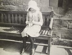 One of the Queen Mother's favourite private pictures of herself, taken at Glamis Castle when she was aged about 12