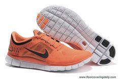New 510642-801 Womens Nike Free Run 3 Orange Black