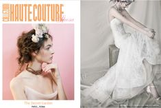 Gorgeous styling for our chantilly lace mermaid dress on COLLEZIONI HAUTE COUTURE.