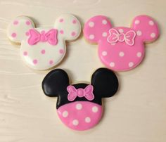 Minnie cookies~    No source, Pink                                                                                                                                                                                 Más