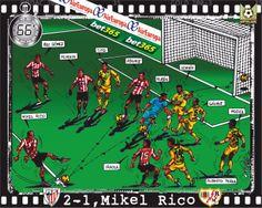 Athletic Club, 2 - Rayo Vallecano, 1 - Mikel Rico, min.66'