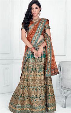 Trendy Blue color Wedding Lehenga Choli INHSPXIC8001C - www.indianwardrobe.com