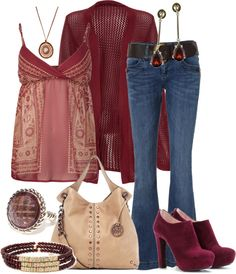 A fashion look from August 2012 featuring cami tank top, red cardigan and sexy jeans. Browse and shop related looks. Passion For Fashion, Love Fashion, Womens Fashion, Fashion Trends, Fashion Ideas, Casual Chic, Late Summer Outfits, Moda Outfits, Casual Outfits