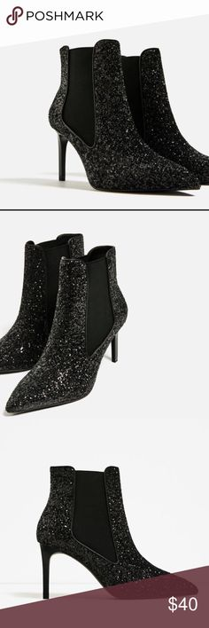 """Ankle Boots Brand new with tag. Ankle boots with stretch detail on the side 3.1"""" Zara Shoes Ankle Boots & Booties"""