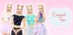 sims 4 mods ~ casual tops