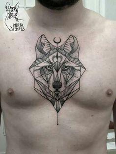 tatuaje lobo geometrico - Buscar con Google