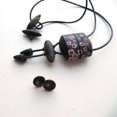 Sakuro Inro box and Mini Sakura earrings | by KatchaT Katerina Tumova