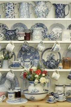 Beautiful Country Blue Dishes