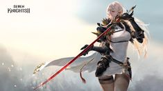 세븐나이츠2 - Netmarble Fantasy Warrior, Fantasy Girl, Anime Fantasy, Fantasy Characters, Female Characters, Anime Characters, Female Character Design, Character Art, Fantasy Inspiration