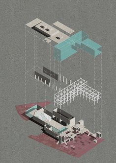 Architectural Project Render Multifunctional Art Cente Architectural Project Render Multifunctional Art Cente on Behance Collage Architecture, Architecture Drawing Plan, Architecture Visualization, Architecture Graphics, Concept Architecture, Architecture Diagrams, House Architecture, Landscape Architecture, Classical Architecture