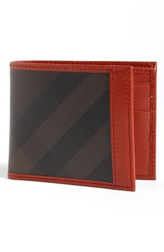 Burberry Check Print Bifold Wallet available at #Nordstrom