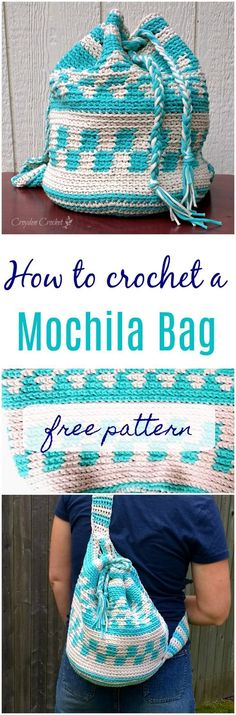 how to crochet a mochila bag - free pattern