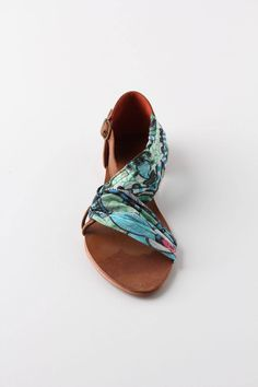 Wrapped & Ruched Sandals $128 #anthropologie