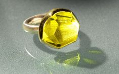 $1150 18K yellow gold, sterling silver and lemon quartz ring by Margoni. There's a reason she's my favorite designer.