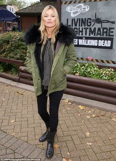 Celebration! Kate Moss was spotted celebrating her daughter Lila Grace's 15th birthday during a visit to Thorpe Park's Fright Nights event in Chertsey, Surrey, on Saturday
