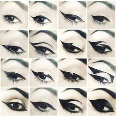 Kat Von D's Eyeliner Looks