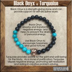 COURAGE & STRENGTH: Black Onyx + Turquoise + Rose Gold Tiger Yoga Mala Bead Bracelet