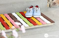 DIY Wooden Doormat – Create A Colorful Welcome!