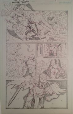 Original Pencil from Batwoman Annual (April 2015) page 21. For sale. contact: rjviacava@gmail.com