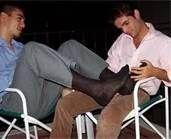 Male sheer sock worship
