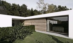 white & wood bungalow