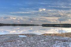 This is from one of the artificial lakes of Seinäjoki, Finland. Kyrkösjärvi.