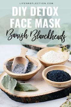 Give your face a much needed reboot by using this DIY detox face mask. Formulated with activated charcoal and Kaolin clay, it's the cat's meow for pulling out toxins or impurities in the skin. Charcoal Face Mask Diy, Activated Charcoal Face Mask, Clay Face Mask, Face Masks, Blackhead Mask, Natural Beauty Recipes, Natural Skin Care, Natural Face, Diy Mask