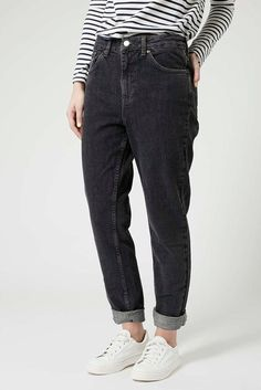 Pull and Bear black mom-fit jeans