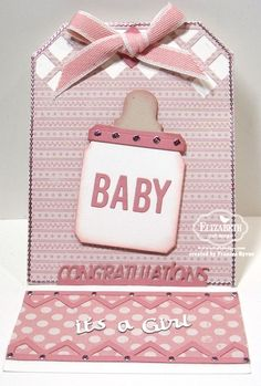 baby girl congrats easel card by Frances Byrne
