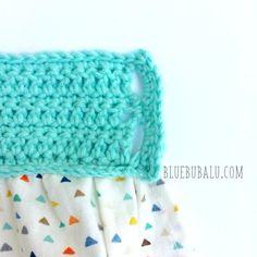 Vestido de ganchillo y tela. Tutorial gratis con BlueBubalu.com Crochet Fabric, Crochet Hats, Diy For Kids, Kids Outfits, Beanie, Embroidery, Summer Dresses, Knitting, Children
