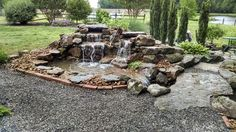 Upper falls spill into a collection pool, then into a swim stream/water garden & finally into a negative edge basin. Project is in Martin, Tn. Koi Ponds, Water Gardens, Basin, Fountain, Nursery, Swimming, Outdoor Decor, Collection, Swim