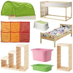 "Our ""Ikea Hack"" toddler-friendly bunkbed - Kura, Kritter & Trofast - Mama Geek Cama Ikea, Murphy-bett Ikea, Trofast Ikea, Ikea Kura Hack, Ikea Hacks, Ikea Bunk Bed Hack, Ikea Toddler Mattress, Ikea Toddler Room, Bedroom Decor"