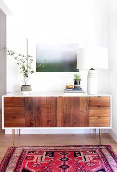 Anrichte im Vintage-Stil aus Holz, B 145 cm, weiß/grau Fjord ...