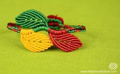 How to Make Matching Macrame Leaf Jewelry Tutorials ~ The Beading Gem's Journal