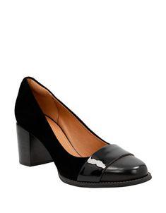 ffcd40a7f099e1 CLARKS ARTISAN Tarah Brae Block Heels Black Block Heel Shoes