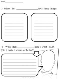 CBT Worksheet 3-I'm gonna do this with my kids.