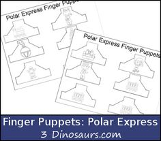 Looking for a fun way to explore some of the packs. These two fun additions of these finger puppets for the Reindeer Pack and the Polar Express Pack. My girls have enjoyed the Nativity Finger Puppets and asked for more. Preschool At Home, Preschool Christmas, Preschool Ideas, Teaching Ideas, Polar Express Activities, Book Activities, Pre Writing Practice, Math Pages, Stuff For Free