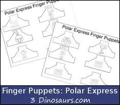 Polar Express Finger Puppets - 3Dinosaurs.com