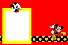 Fazendo a Minha Festa!: Mickey Tradicional - Kit Completo com molduras para convites, rótulos para guloseimas, lembrancinhas e imagens!