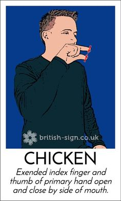 British Sign Language #BSL chicken #animal