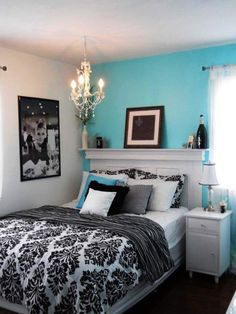Google Image Result For  Http://hominspire.com/wp Content/uploads/2012/06/blue Black White Bedroom  | Things For Whitney | Pinterest | Blue Bedrooms, ...