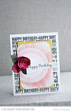 Spotlight Sentiments, You're the Sweetest, Inside & Out Dieagonal Stitched Rectangle STAX Die-namics, Mini Royal Roses Die-namics, Rolled Scalloped Rose Die-namics, Royal Leaves Die-namics, Stitched Circle STAX Die-namics - Keisha Campbell  #mftstamps