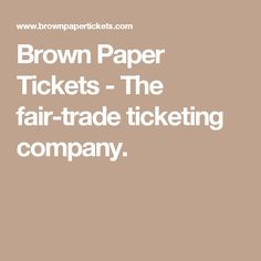29 best coupons discounts etc images on pinterest coupon brown paper tickets the fair trade ticketing company fandeluxe Gallery