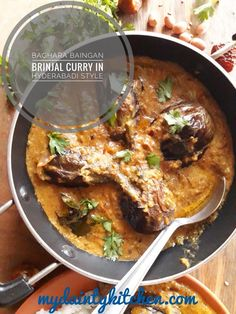 Hyderabadi bagara baingan is a delicious egg plant curry with an unique tangy flavour. This is an authentic hyderabadi cuisine. Vegan Keto Recipes, Best Vegetarian Recipes, Curry Recipes, Lunch Recipes, Indian Food Recipes, Cooking Recipes, Healthy Recipes, Ethnic Recipes, Delicious Recipes